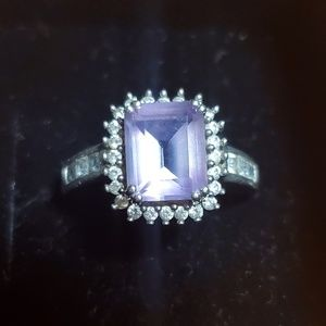 Genuine amythst ring 925